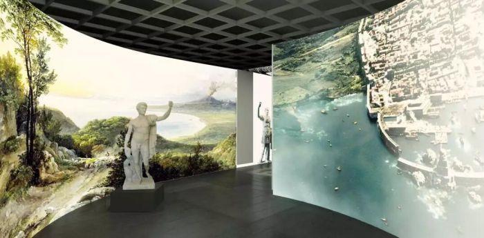 庞贝古城出土文物在秦始皇帝陵博物院开展