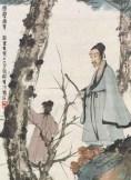 傅抱石、黄君璧友谊的《松下问童子》4172.5万港币成交