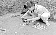 2200年前古墓现已灭绝长臂猿遗骸