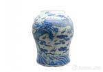 陶瓷珍品赏析:青花龙纹将军罐