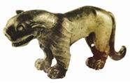 战国时期圆雕动物银饰