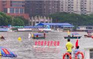 广州横渡珠江活动举行 2000健儿击水争渡
