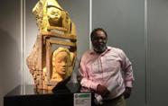 非洲艺术家木雕创作成果展在浙江杭州启幕