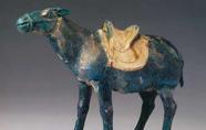 唐代 · 藍釉陶驢(中國國家博物館)
