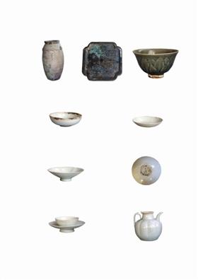 型精美、釉色莹润的景德镇窑青白瓷茶具