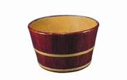 清雍正木理纹釉黄里鱼缸