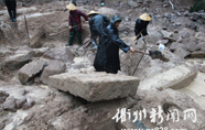 龙游溪口发现大型青石墓室