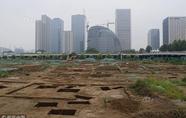 北京奥体中心南侧现大型墓葬群