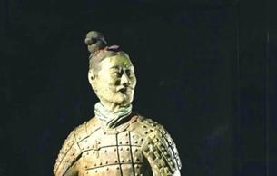 """""""绿脸俑""""亮相陕西历史博物馆"""
