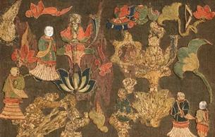 日本国宝刺绣佛 已知最早日本佛教造像