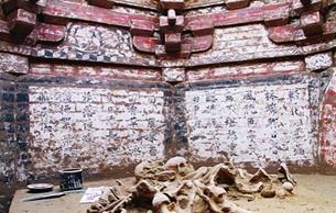 山西晋中发现金代砖雕壁画墓