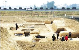 高唐正在发掘一处古墓群 疑为唐代墓葬群