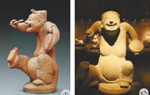 利来国际娱乐里笑意盈盈的人物陶俑