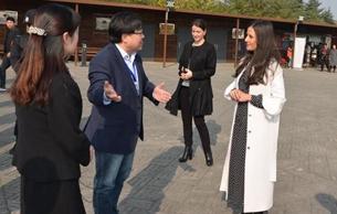 塞尔维亚总统夫人塔玛拉参观汉阳陵