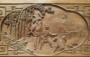 中國古代門窗上的人物雕刻藝術