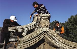城中村改造老門臺搬家 溫州龍灣十幾座老門臺得到異地保護