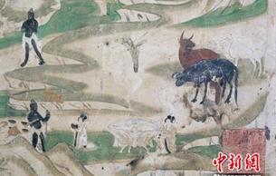 """敦煌石窟古代""""臘八節"""":沐浴食粥 狩獵臘祭"""