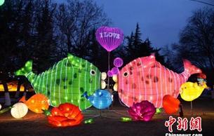 """蘭州迎春燈會小年夜亮燈 百余燈組喚起""""過年老傳統"""""""
