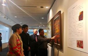 中国漆画名品东京展出 促中日文化交流