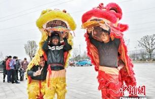 """浙江湖州""""打?#21495;!?#36814;新春 传承民俗年味浓"""