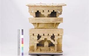 泥土覆盖下的东汉陶楼绘的什么色