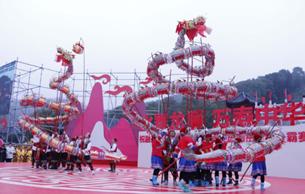湖南:廟會燈會慶元宵 龍騰獅舞鬧新春