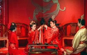 """唐代婚?#20303;?#19979;婿""""""""青庐拜堂""""?#25628;?#34989;少数民族习俗"""