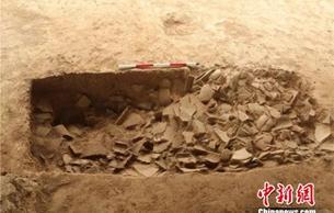 陕西秦咸阳城府库建筑遗址考古发掘结束