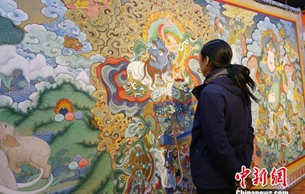 甘肃夏河唐卡成文化产业发展亮点